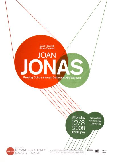 CalArts poster: REDCAT: Joan Jonas by Kate Thomas