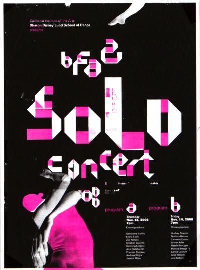 CalArts poster: BFA2 Solo Concert by Manuel Garcia