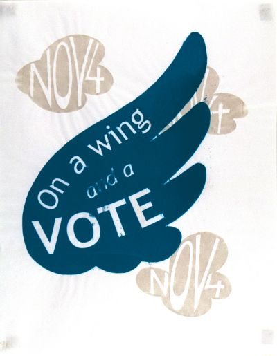 CalArts poster: On A Wing and A Vote by