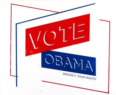 CalArts poster: Vote Obama: Protect Your Rights by Jesse Frankel