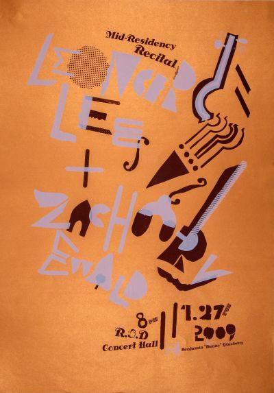 "CalArts poster: Benjamin ""Bunny"" Ginzberg Mid-Residency Recital by Sean Yoon"