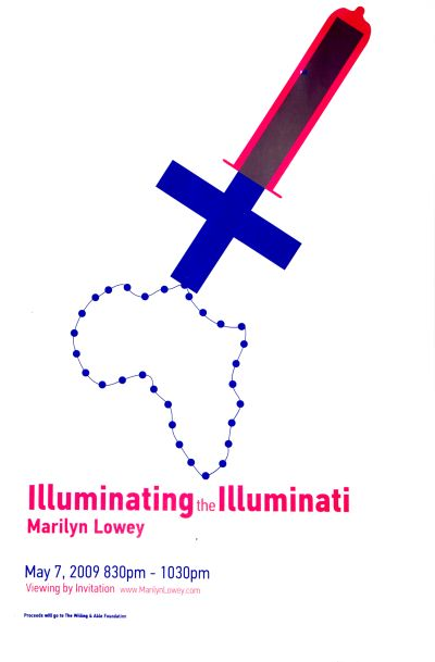 "CalArts poster: ""Illuminating the Illuminati"", Marilyn Lowey by"