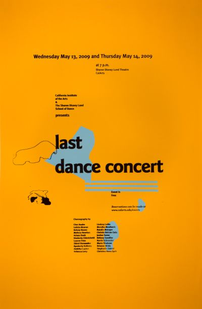 CalArts poster: Last Dance Concert by Caelin White