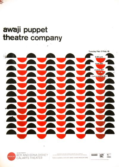 CalArts poster: REDCAT: Awaji Puppet Theatre Company by Caelin White