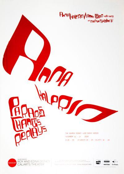 CalArts poster: REDCAT: Anna Halprin by Jason Lee Zachary Roberson