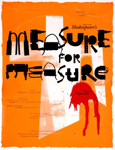 CalArts poster: Measure For Measure by Kate Johnston Scott Massey Tim Belonax