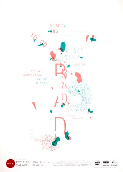 CalArts poster: REDCAT: Recent Narratives by Pat O' Neill by Caroline Park
