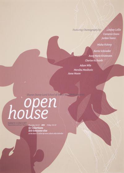 CalArts poster: 2010 Open House Dance Concert by Jazmyn Faulkner
