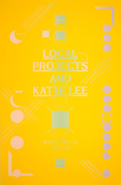 CalArts poster: Local Projects and Katie Lee by Aastha Gaur Chris Morabito