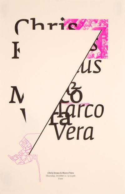 CalArts poster: Chris Kraus & Marco Vera by Kate Johnston