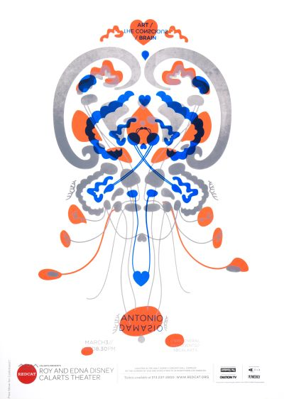 CalArts poster: REDCAT: Antonio Damasio by Caroline Park Masato Nakada