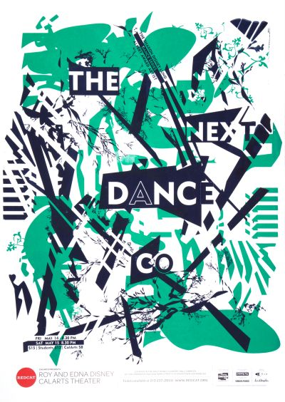 "CalArts poster: REDCAT: ""The Next Dance Co."" by Caroline Park Aastha Gaur"