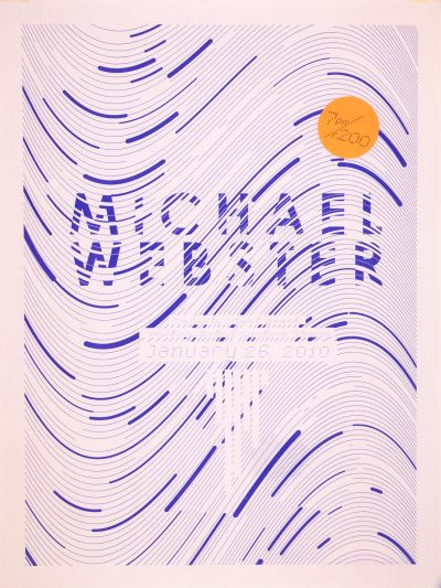 CalArts poster: Michael Webster by Jesse Lee Stout