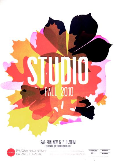CalArts poster: REDCAT: Studio Fall 2010 by Becky Song Tiffanie Tran