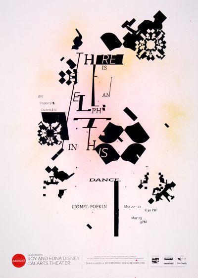 CalArts poster: REDCAT: Lionel Popkin by Aastha Gaur Megan Lynch