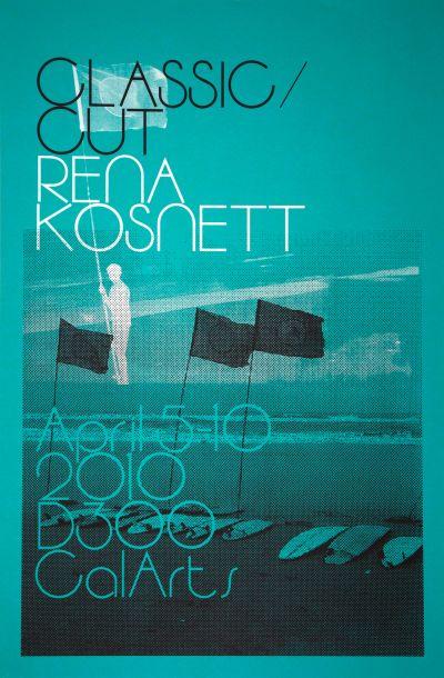 CalArts poster: Classic Cut/Rena Kosnett by Ania Diakoff