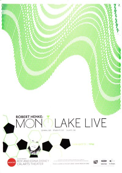 "CalArts poster: REDCAT: ""Robert Henke: Monolake Live"" by Alejandro Hernandez Phil Shaw"
