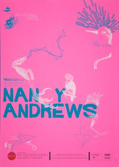 CalArts poster: REDCAT: Nancy Andrews by Alejandro Hernandez