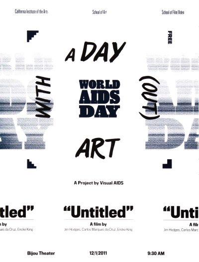 CalArts poster: World AIDS Day by Elizabeth Alexander Tom Kracauer