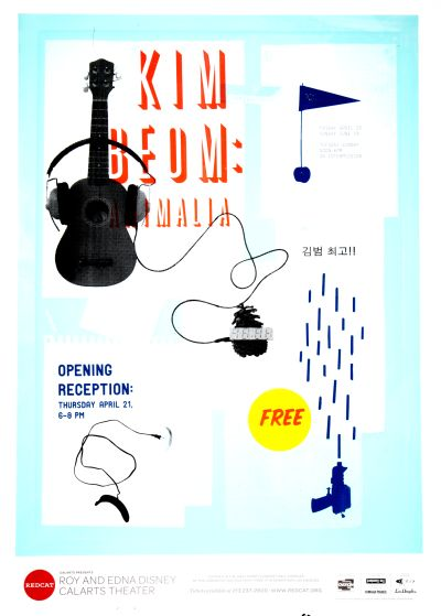 CalArts poster: REDCAT: Kim Beom by Becky Song Tiffanie Tran