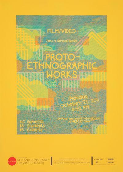 CalArts poster: REDCAT: Proto-Ethnographic Work by Izaak Berenson Tom Kracauer