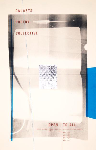 CalArts poster: CalArts Poetry Collective by David Matthew Davis Kaoru Matsushita