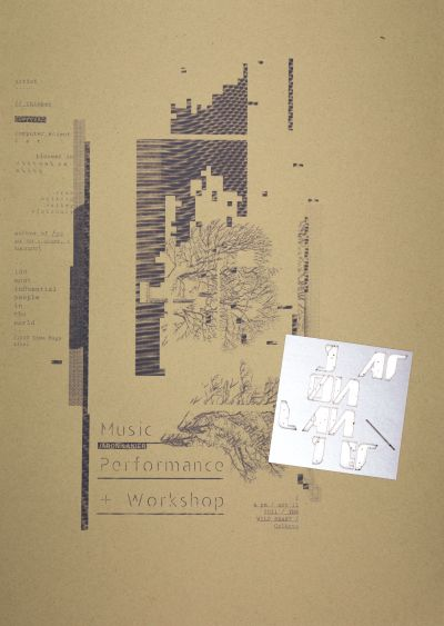 CalArts poster: Jaron Lanier, Music Performance + Workshop by David Matthew Davis Noura Al-Naggar