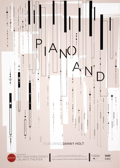 CalArts poster: REDCAT: Piano And by Amanda Gartman Mary Kim Harmon