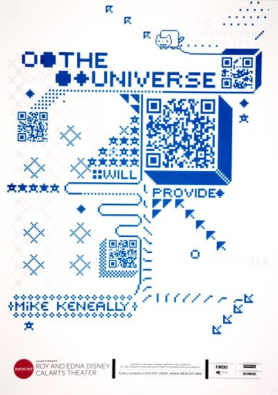 CalArts poster: REDCAT: The Universe Will Provide by Alejandro Hernandez Augusto Piccio