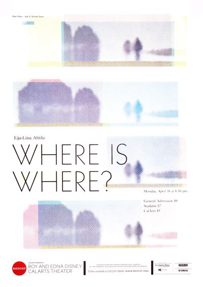 CalArts poster: REDCAT: Where is Where? by Kate Johnston