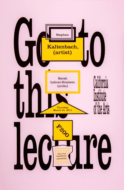 CalArts poster: Stephen Kaltenbach & Sarah Lehrer-Graiwer by Tom Kracauer