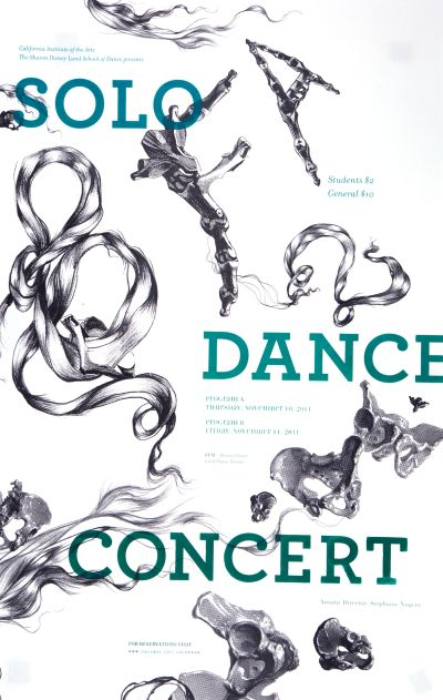 CalArts poster: Solo Dance Concert by Christina Rodriguez Pedro Lavin