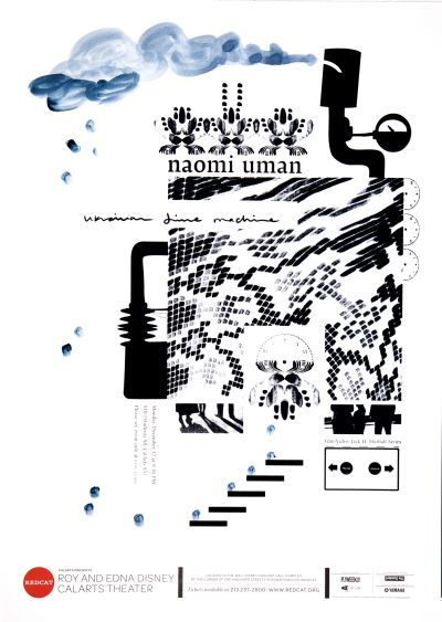 CalArts poster: REDCAT: Naomi Uman by David Matthew Davis Thea Lorentzen