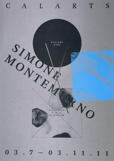 CalArts poster: Simone Montemurno by Danae Moore Scott Massey