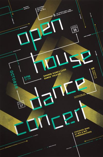 CalArts poster: 2011 Open House Dance Concert by Bijan Berahimi Christopher Burnett