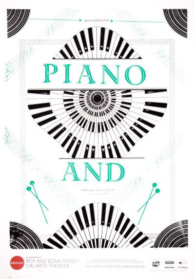 CalArts poster: REDCAT: Piano And by Phil Shaw