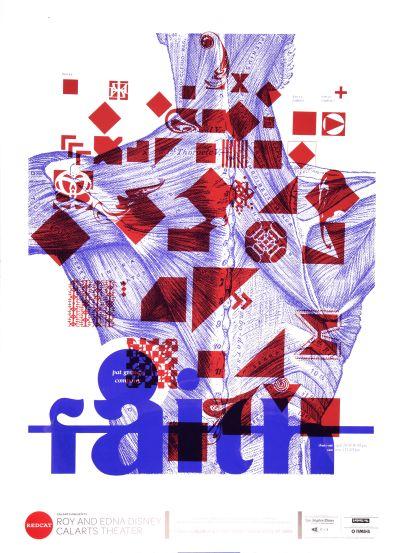 "CalArts poster: REDCAT: Pat Graney Company, ""Faith"" by Noura Al-Naggar"