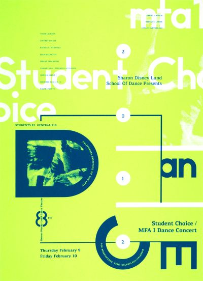 CalArts poster: 2012 Student Choice Dance Concert by Bijan Berahimi Christopher Burnett