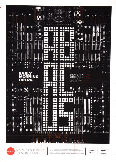 CalArts poster: REDCAT: Abacus by Edvin Lynch Nate Blowers