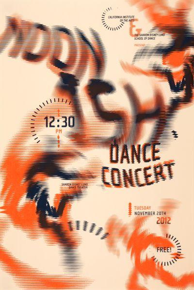 CalArts poster: 2012 Noonish Dance Concert by Christopher Burnett Pedro Lavin