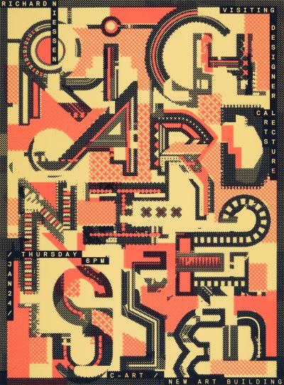 CalArts poster: Richard Niessen by Christopher Burnett