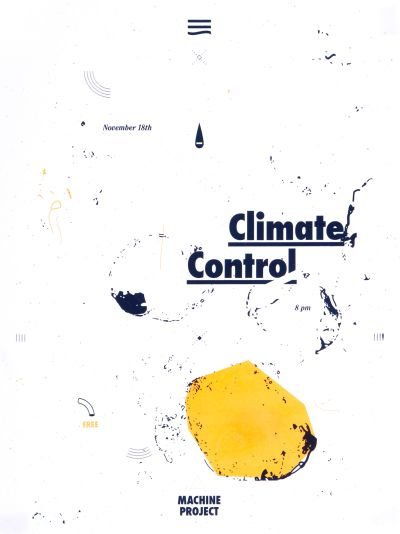 CalArts poster: Climate Control by Mitchel Cox Taylor Giali