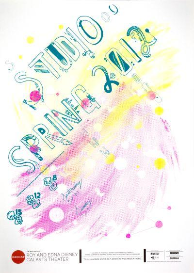 CalArts poster: REDCAT: Studio Spring 2012 by Crystal Yi Jazmyn Faulkner