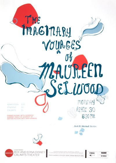 CalArts poster: REDCAT:The Imaginary Voyages of Maureen Selwood by Crystal Yi Hyoseon Kim
