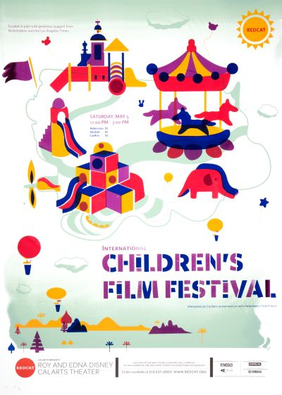 CalArts poster: REDCAT: 2012 Internation Children's Film Festival by Dawoon Jeung Hyoseon Kim