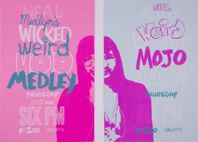 CalArts poster: Neal Medlyn's Wicked, Weird Mojo Medley by Bijan Berahimi Christopher Burnett David Karwan
