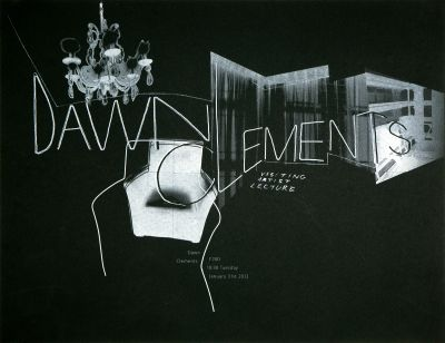 CalArts poster: Dawn Clements by Cathy Kangwon Lee