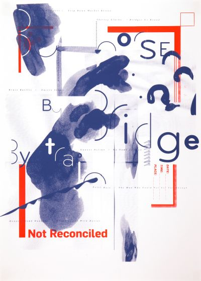 CalArts poster: Not Reconciled by Scott Massey Thea Lorentzen