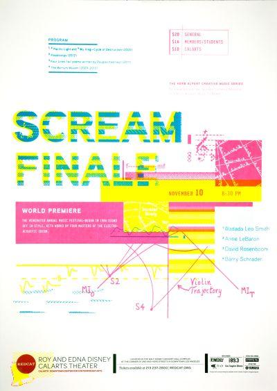CalArts poster: REDCAT: Scream Finale by Herim Shin Pierre Nguyen