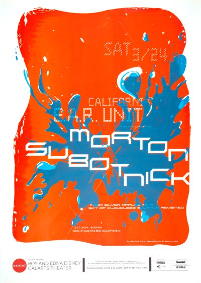 CalArts poster: REDCAT: Morton Subotnick by Luis Salcedo